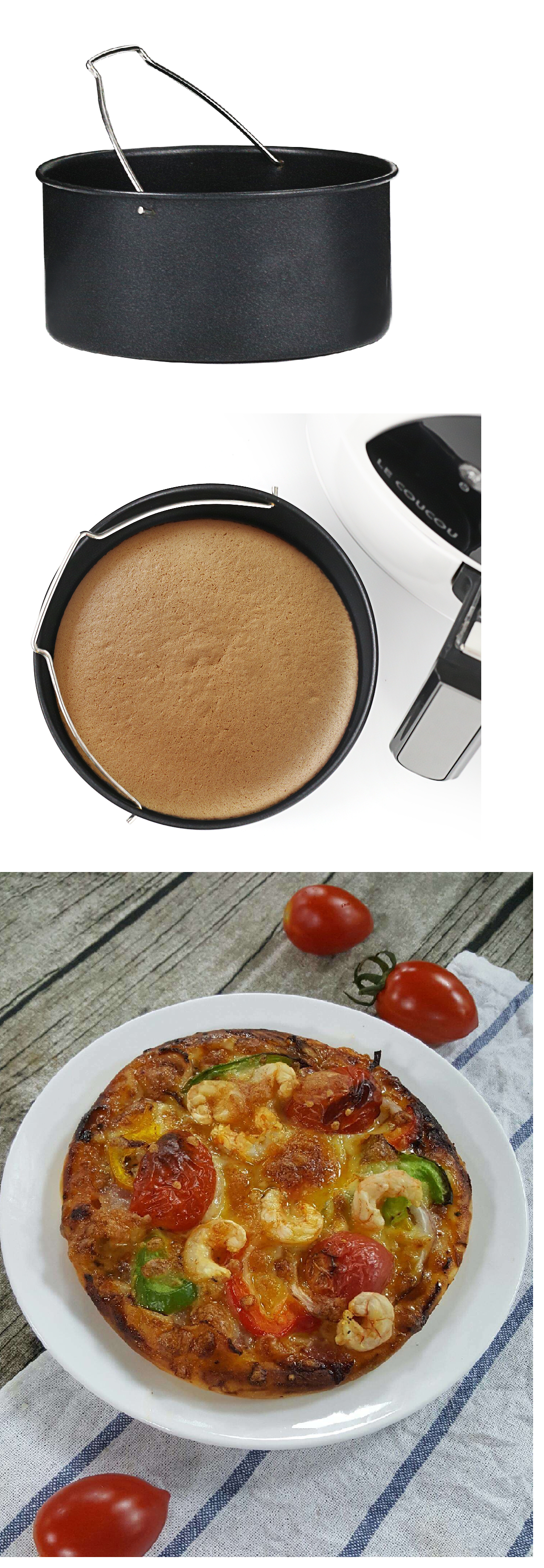 Air Fryer baking pan with this pan, you can easily cook