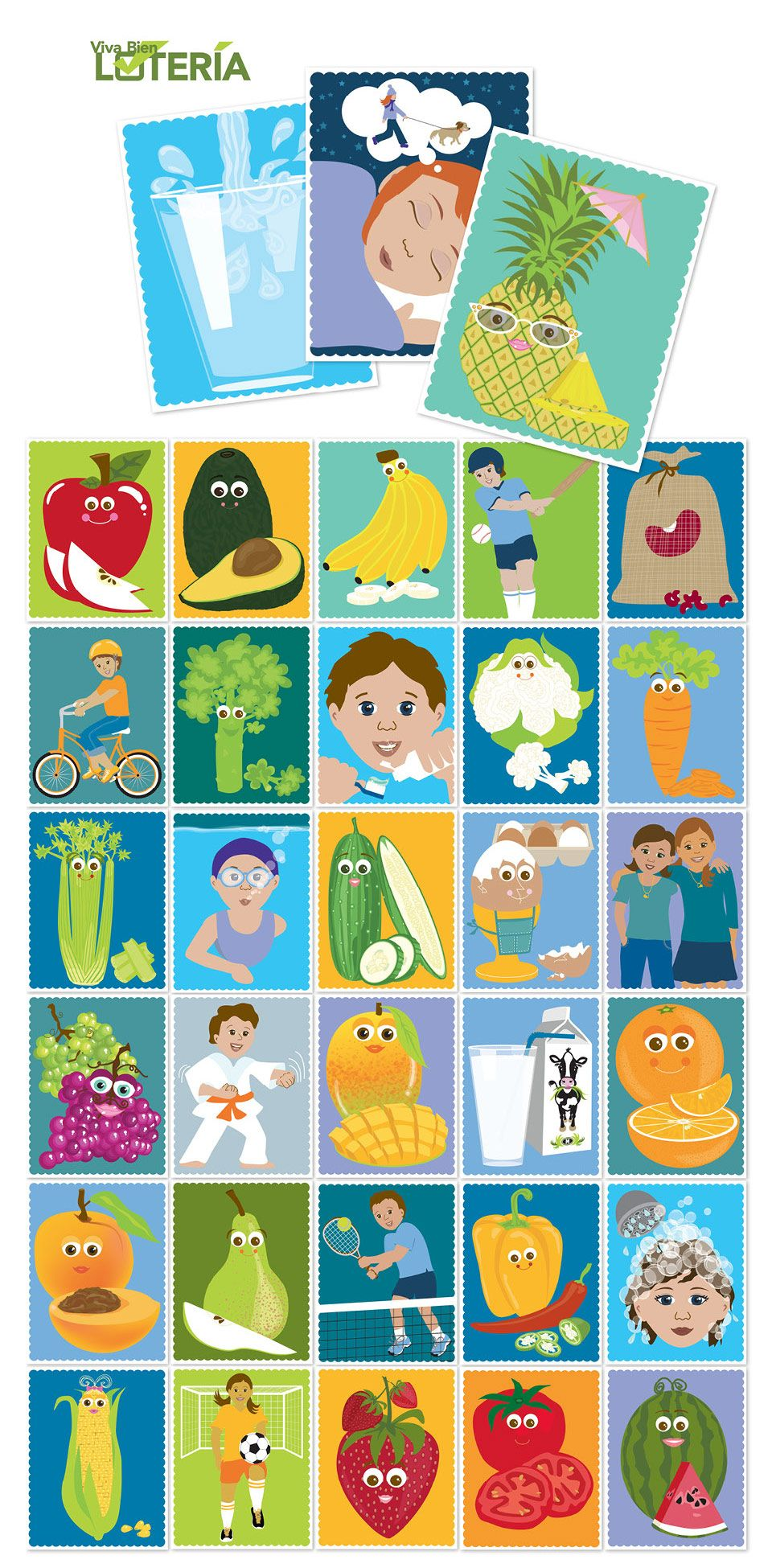 Loteria  Loteria is a children's game that is very similar to Bingo. This game is used to spread health information to children and their parents during community events.