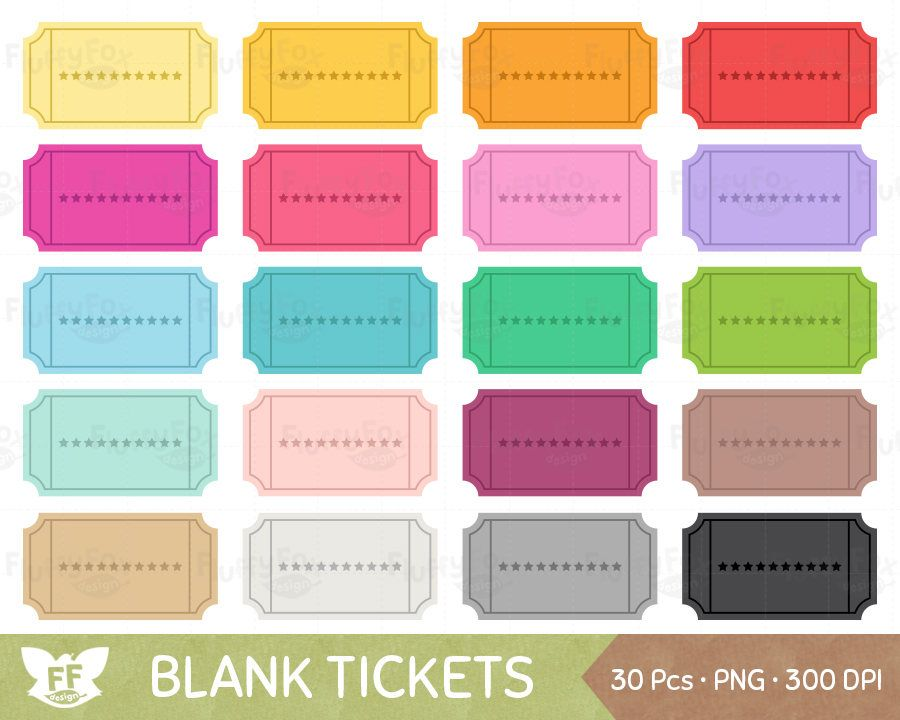 Blank Ticket Clipart Coupon Discount Reward Sale Voucher Etsy In 2021 Clip Art Coupon Book Digital Graphics