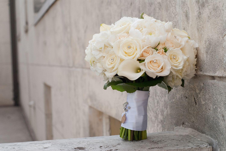 The Classics White Rose Bouquet Calla Lily Bouquet Wedding Classic Wedding Bouquet