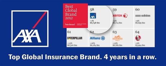 Top Global Insurance Brand 4 Years In A Row Axa 4 Years