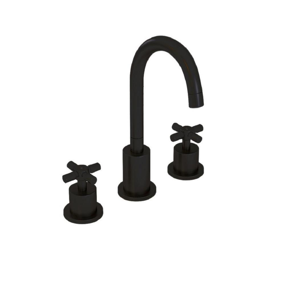 Ancona Prima 3 8 In Widespread 2 Handle Bathroom Faucet In Black Matte An 4305 Widespread Bathroom Faucet Bathroom Faucets Black Faucet