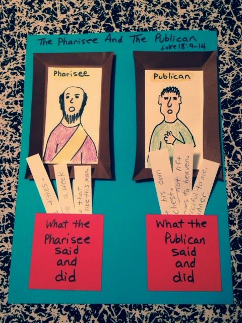 crafts for pharisee and tax collector