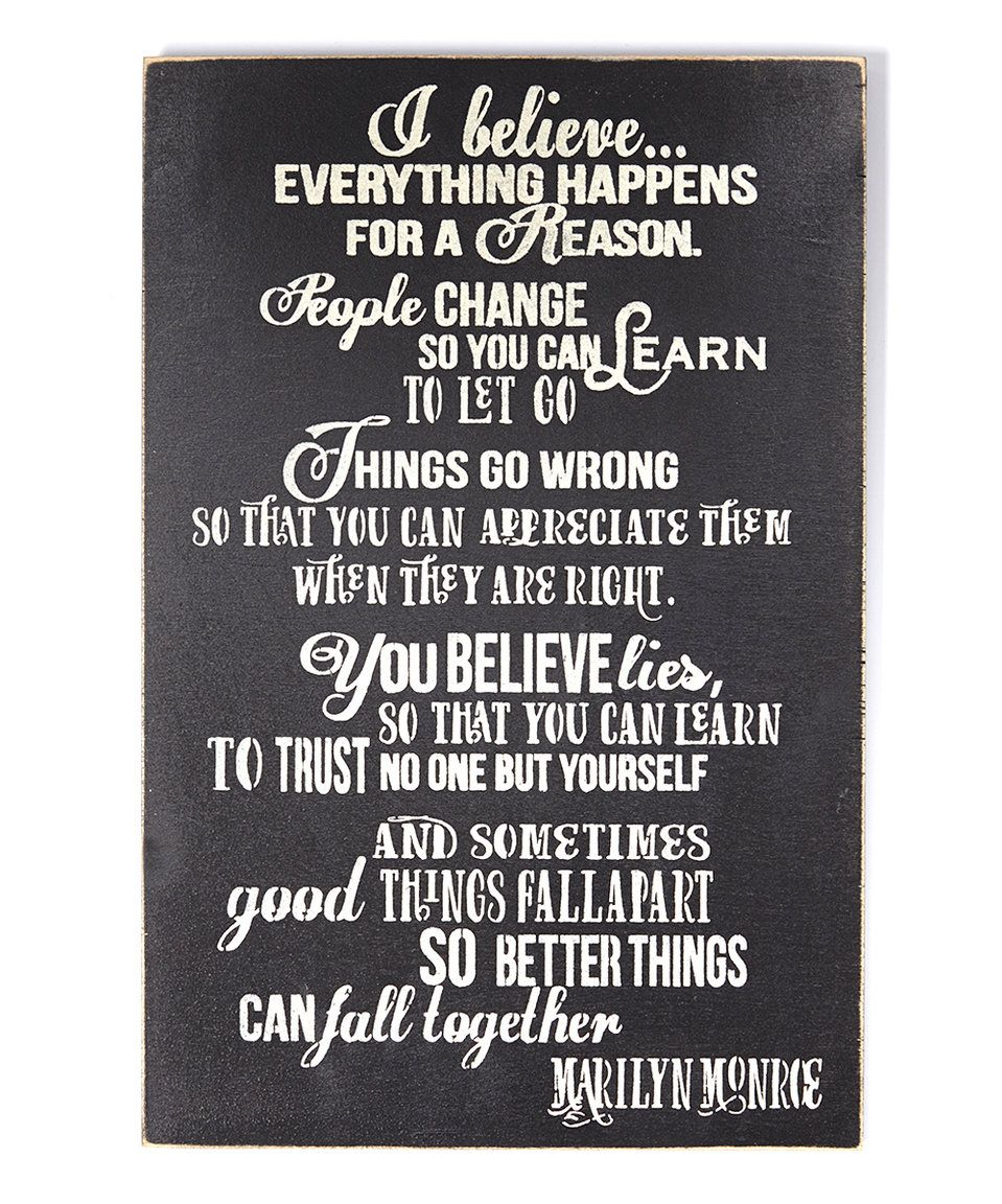 Signs Quotes Look What I Found On Zulily Black 'i Believe.' Marilyn Monroe