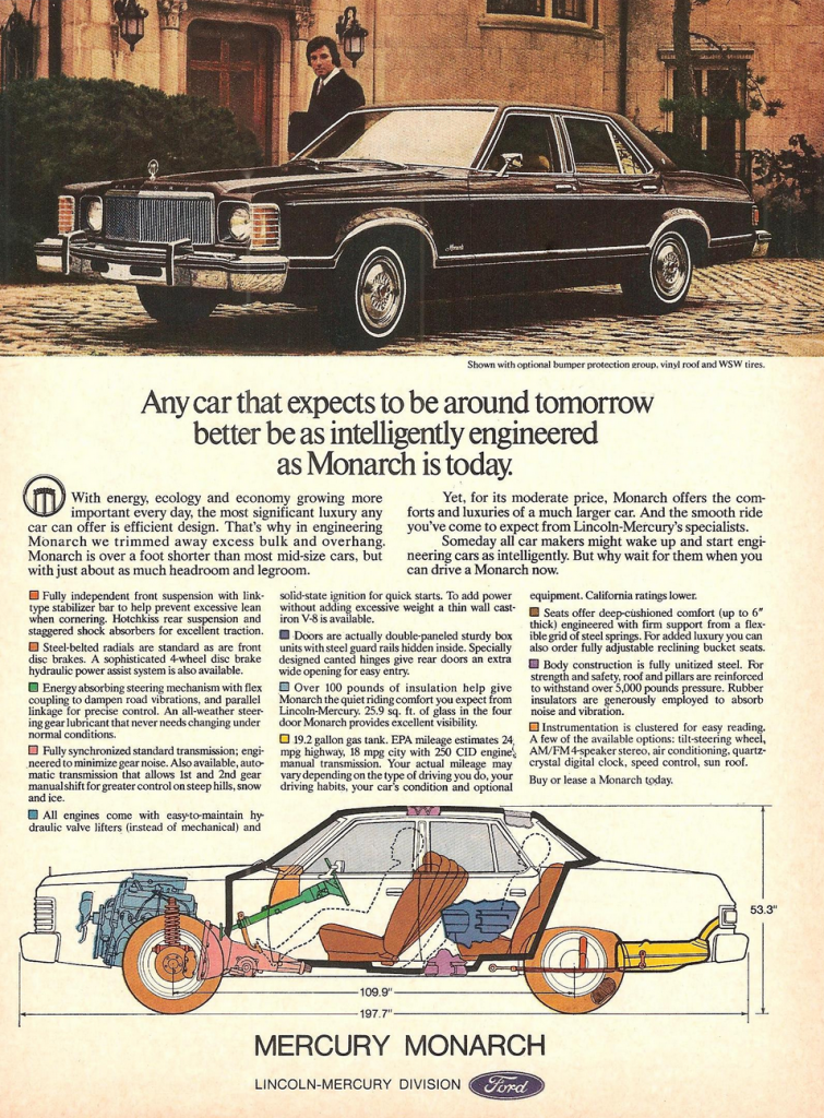 1977 Mercury Monarch Ad Ford Granada Old Ads Ford Classic Cars