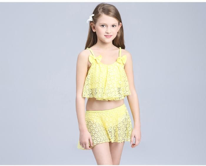 a341a41b3666 Children s Girls Swimming Dresses Baby Separated Girls Children s ...