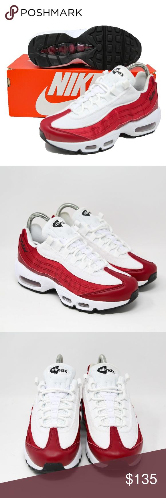 NWT Womens Nike Air Max 95 LX NSW Running Shoes Red White AA1103 601 SZ 7.5 | eBay