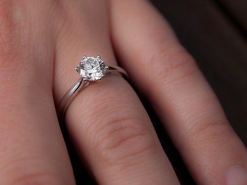 Carat Engagement Ring On Finger Photos 32