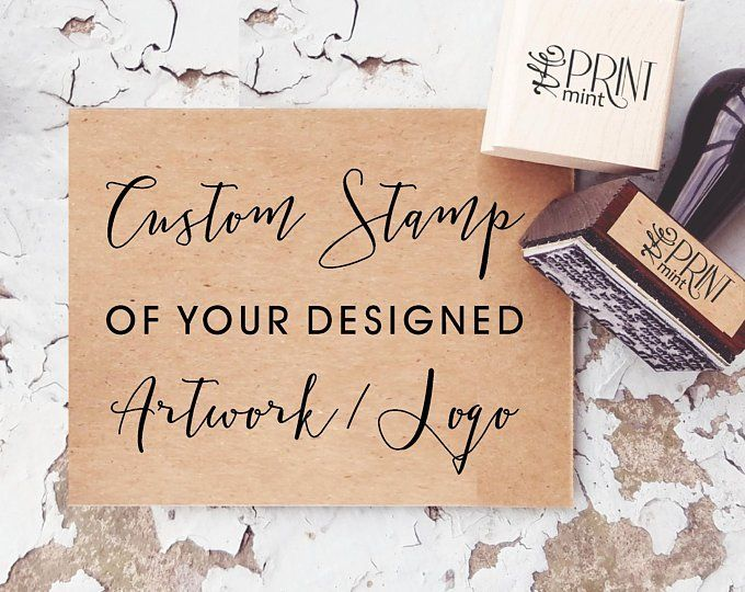 Custom Rubber Stamps Business Logo Or Wedding