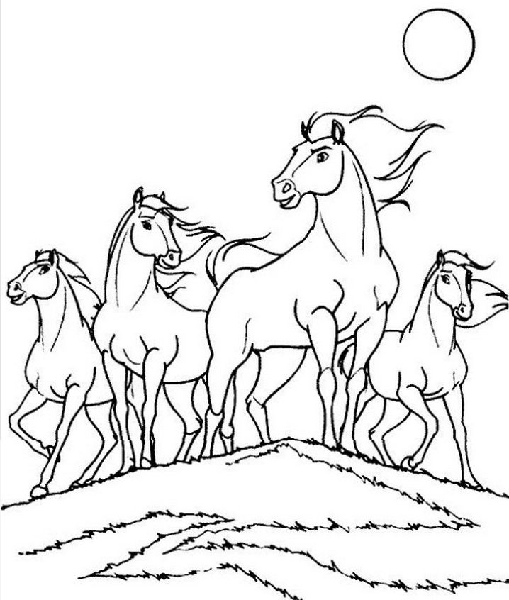 a collection of stray horse coloring for kids animal coloring pages kidsdrawing free coloring pages online - Free Coloring Pages Horses