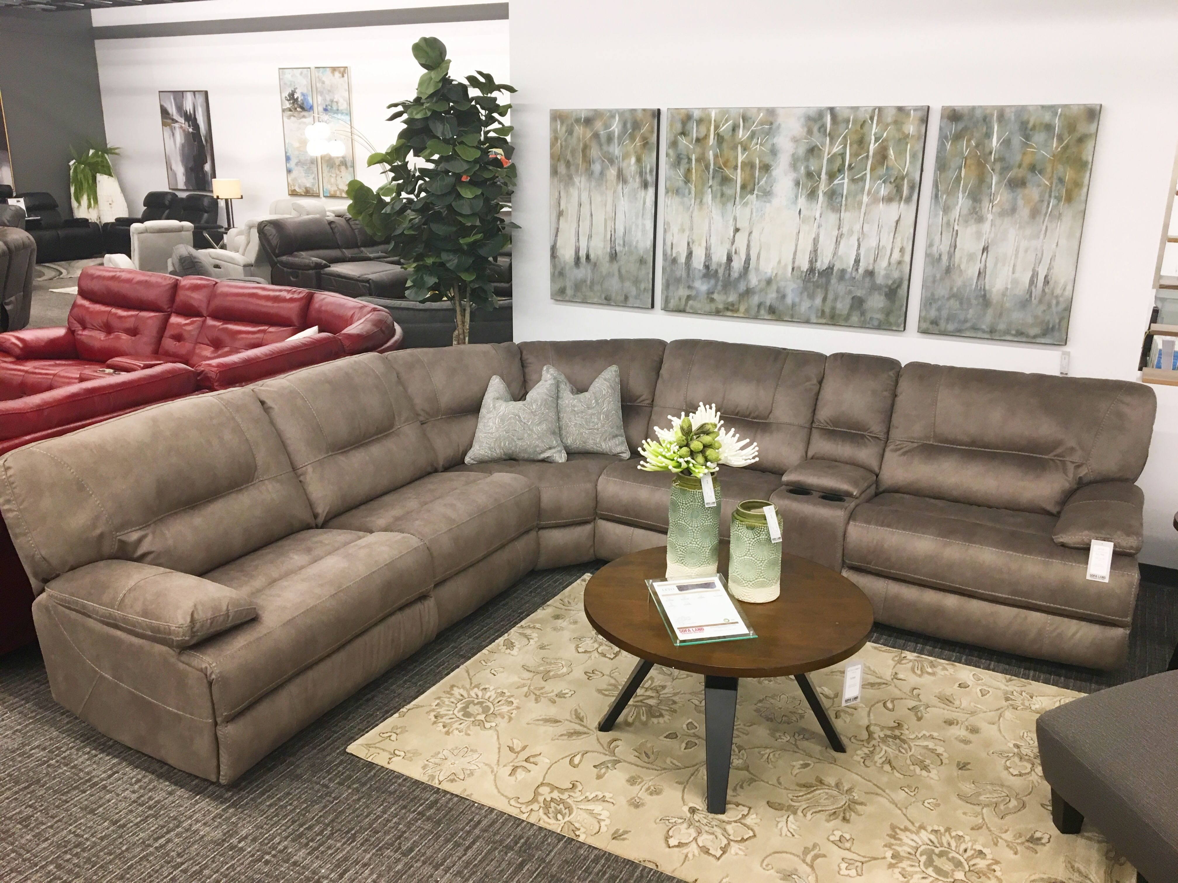 Leto Sofa Land Reclining Sectional Sectional Power Recliners