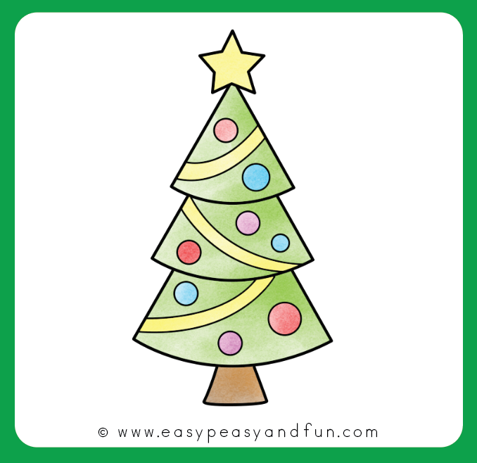 How To Draw A Christmas Tree Step By Step Drawing Tutorial Easy Peasy And Fun In 2020 Christmas Tree Drawing Christmas Tree Images Christmas Activity Book