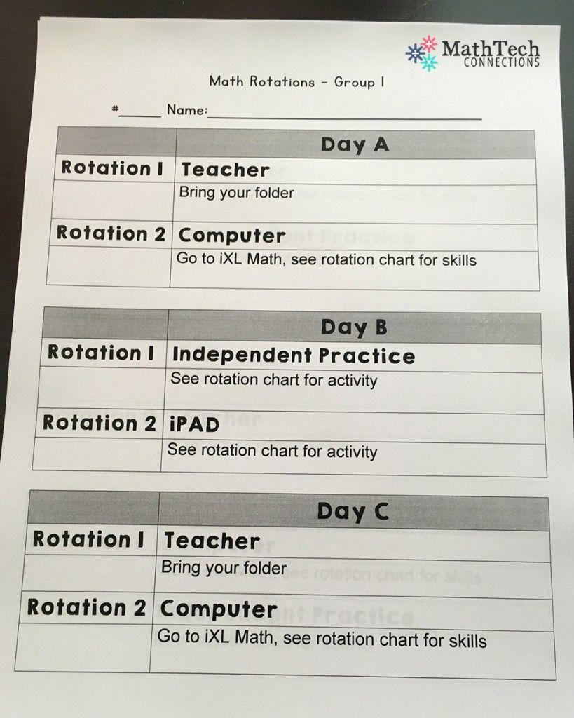 Math Workshop Student Folders Free Guided Math Lesson Plan