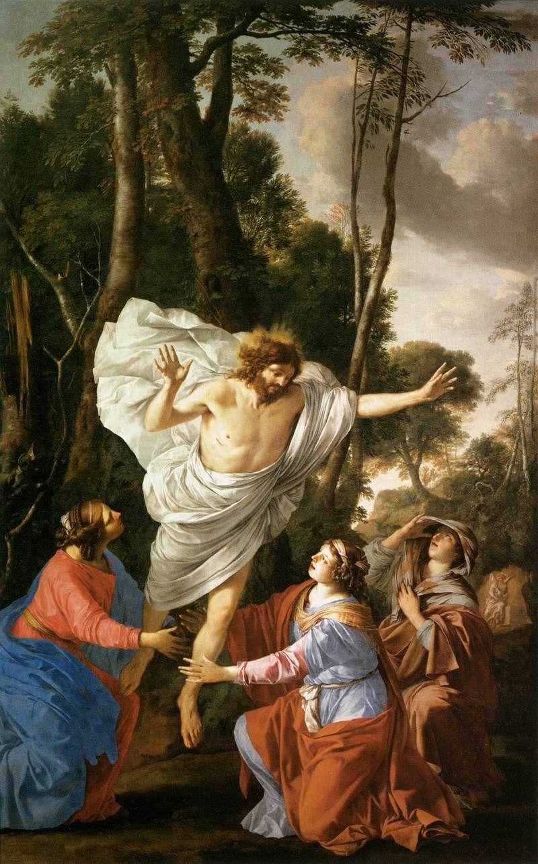 Laurent de la Hyre - Jezus ukazujący się trzem Mariom