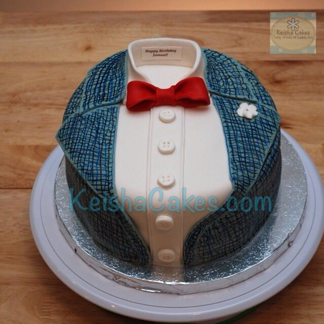 Bow tie gentlemen swag cake Decorated to look like a mans dress