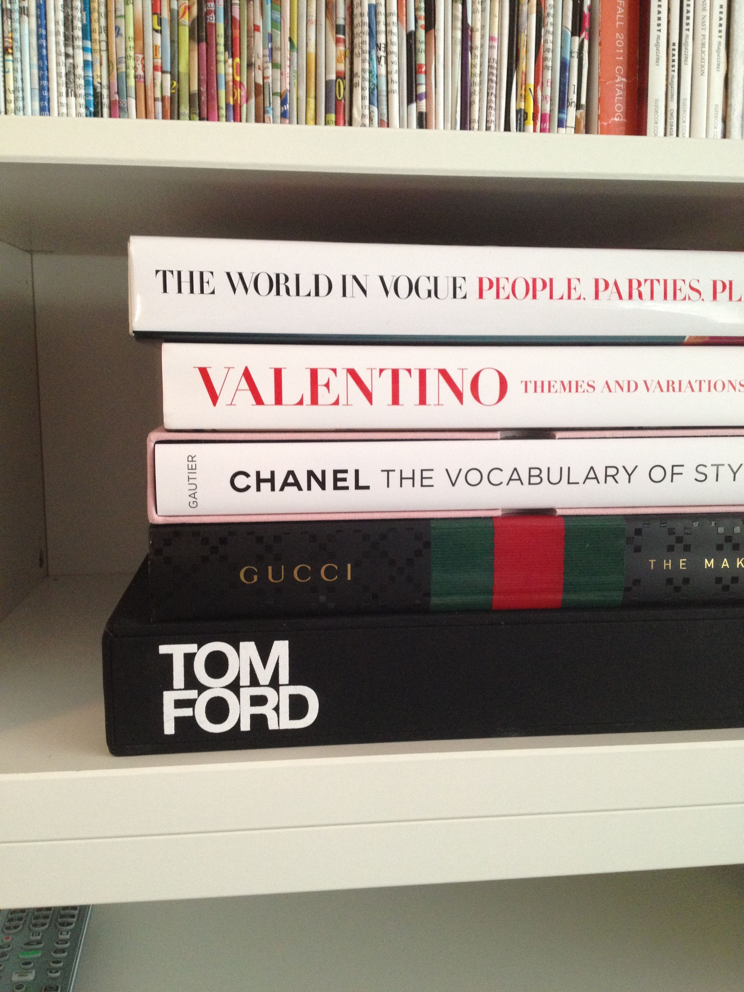 Tom Ford Book Valentino Book Vogue book Chanel Book Fashion
