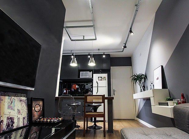 Decoração de apartamento pequeno cheio de estilo e conforto - departamento de soltero moderno pequeo