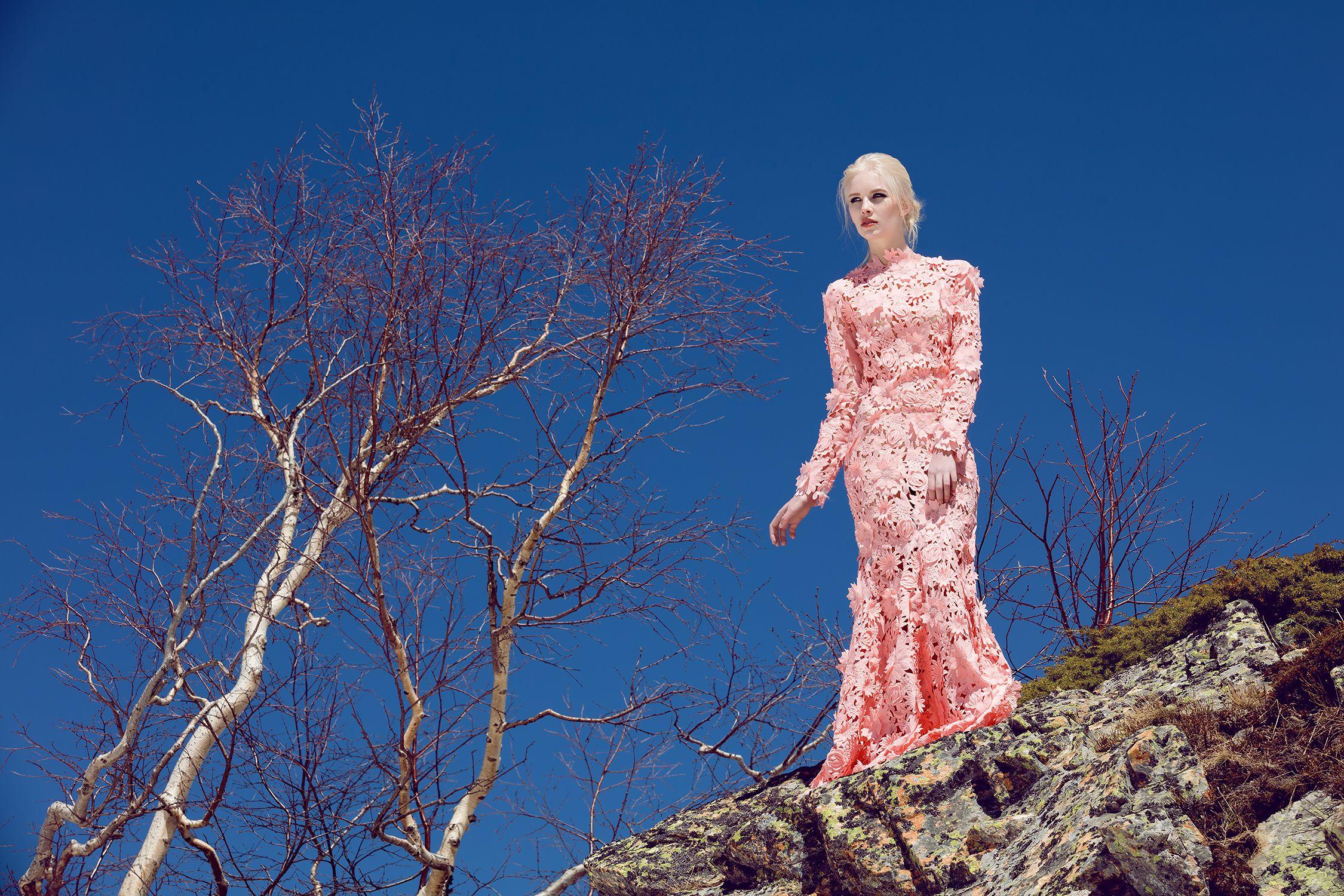 Платье «Феерия» розовое кружево— цена по запросу