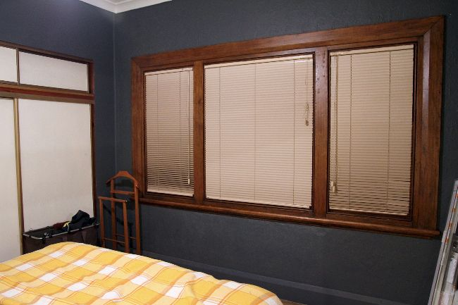 White Blinds With Brown Trim Google