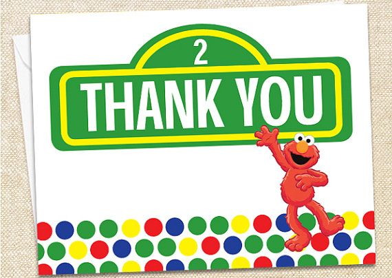Elmo Thank You Cards Set Of 35 John Ryan Stuff Pinterest