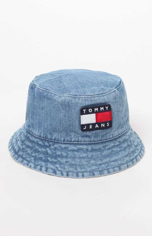 14a1c34ee46 Tommy Jeans  90s Sailing Denim Bucket Hat