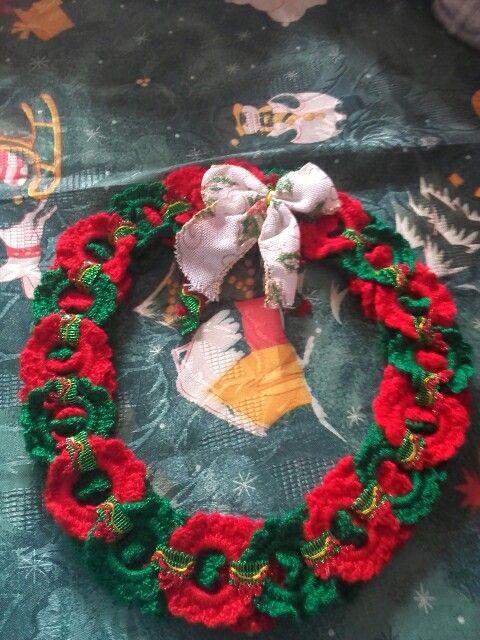 Crochet Corona Navidena Detallitos Patita Pinterest - Corona-navidea