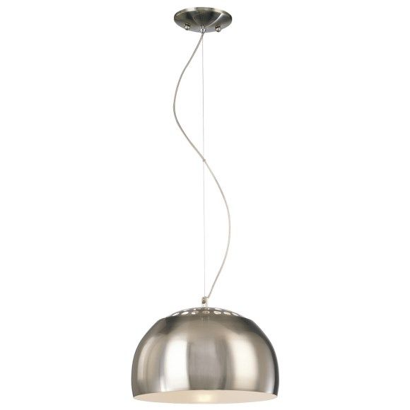 George Kovacs P861-084 Canna 1 Light Pendent in Brushed Nickel with Metal Shade