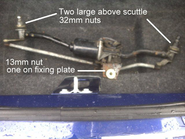 mgf tf windscreen wiper motor and linkages - replacement guide