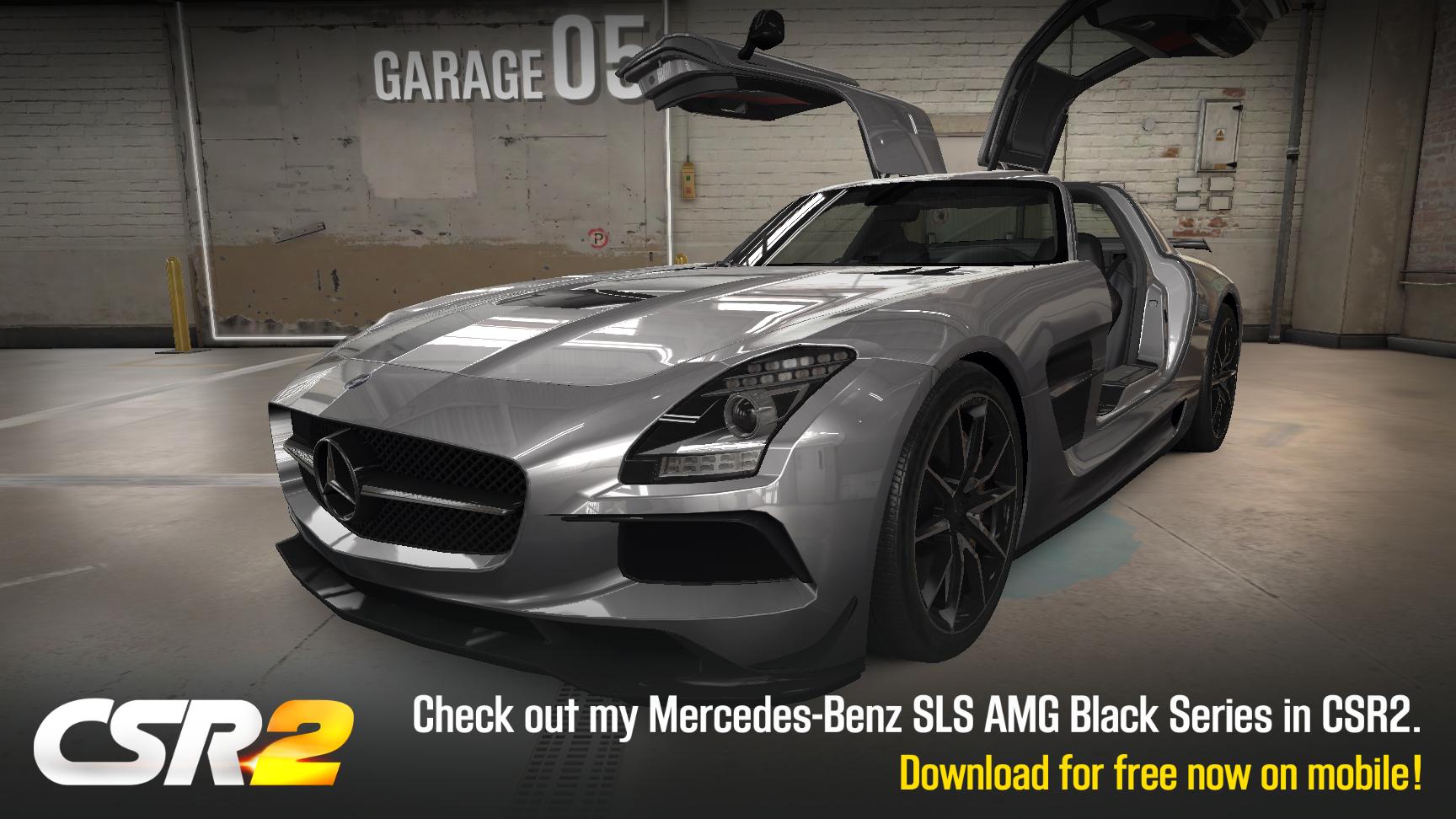 csr racing franchise car 40 mercedes benz sls amg black series from