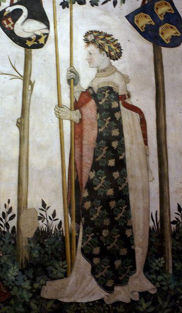 castello della manta fresco | Castello della Manta, Salone Baronale, Aloisia di Ceva als Semiramis ...