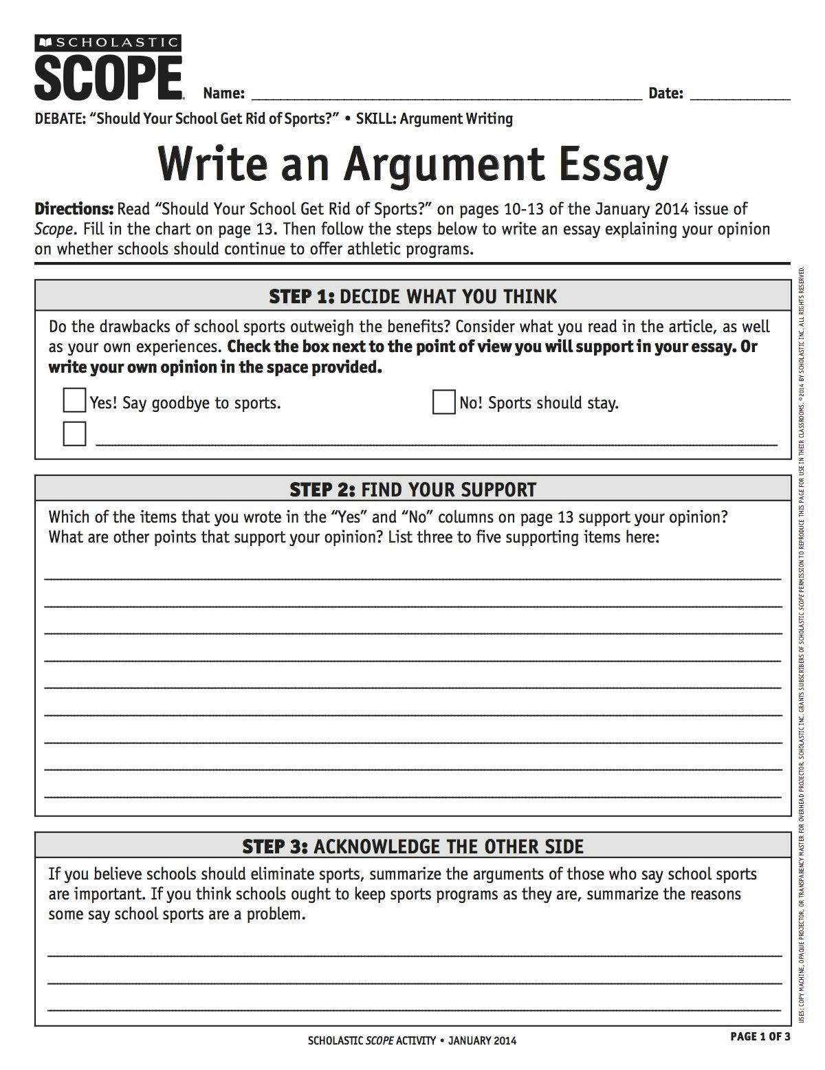 Writing an admission essay plan
