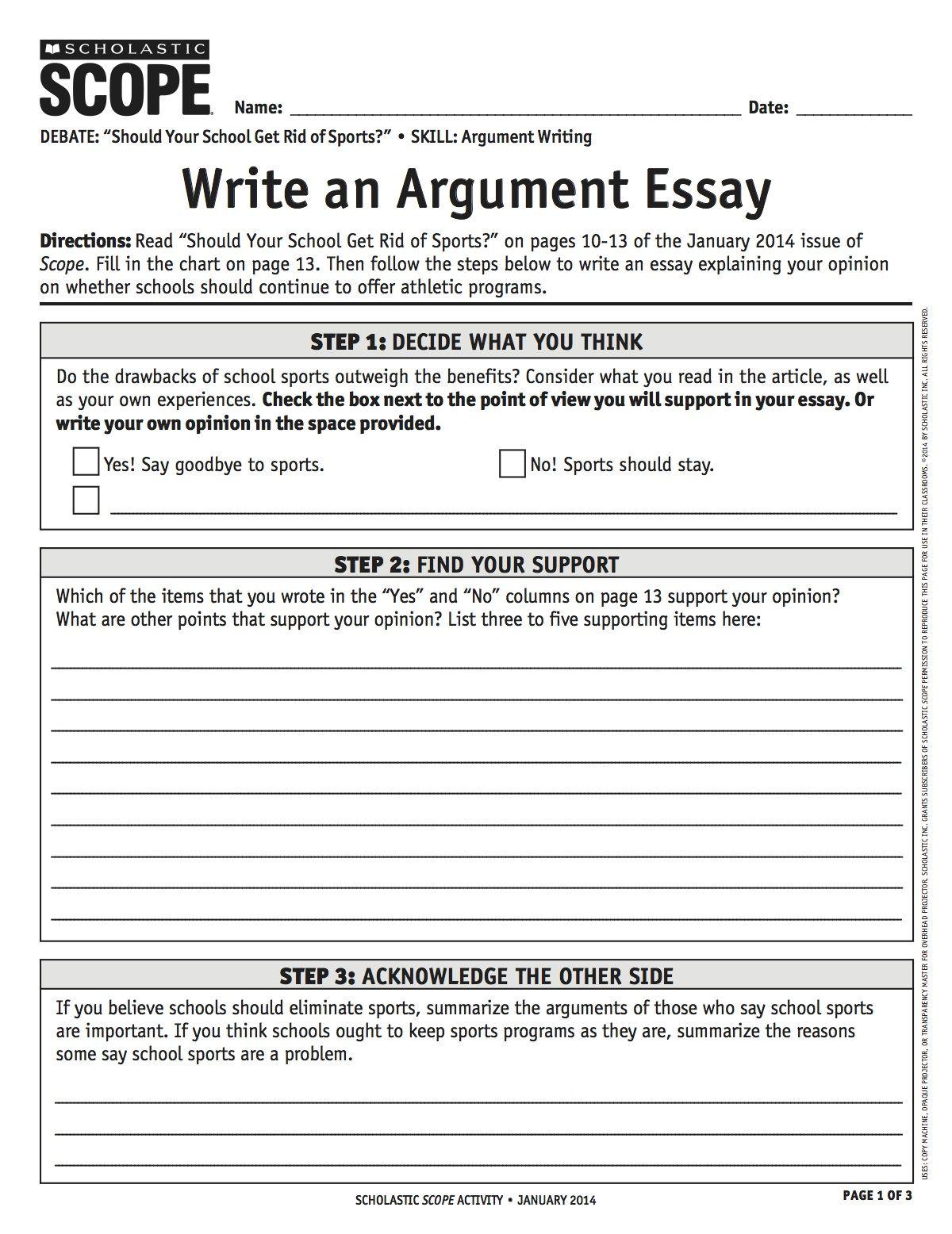 argumentative essay 5th grade