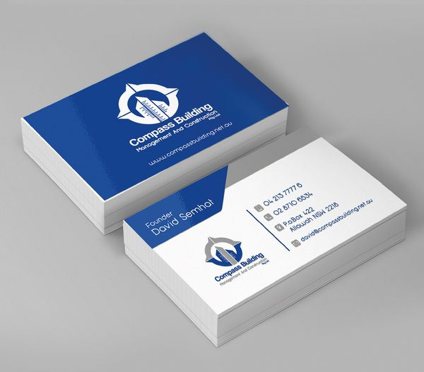Compass Building Business Card Design | Business Cards Design ...