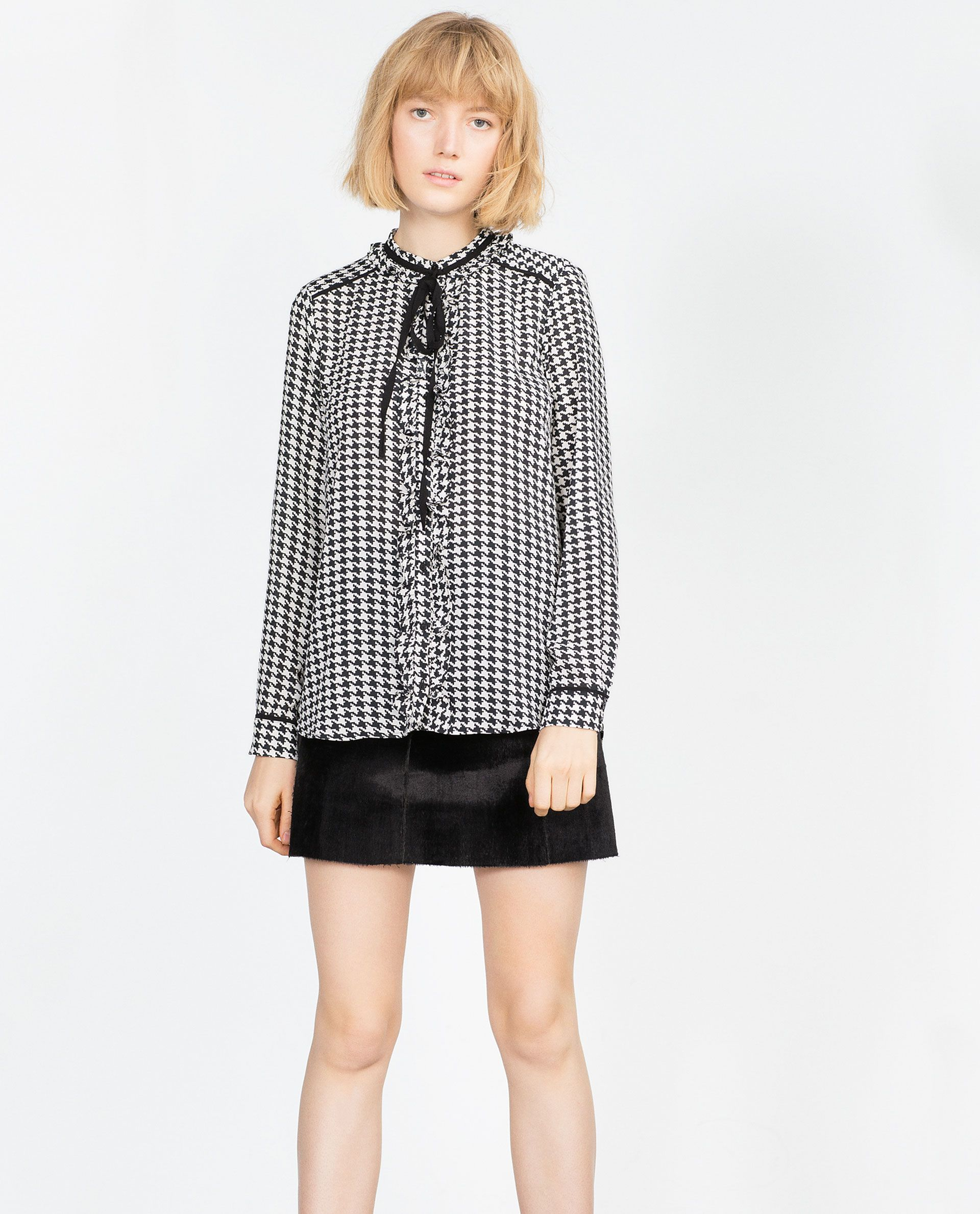 PRINTED BLOUSE WITH A JABOT FRILL | ZARA saved by #ShoppingIS