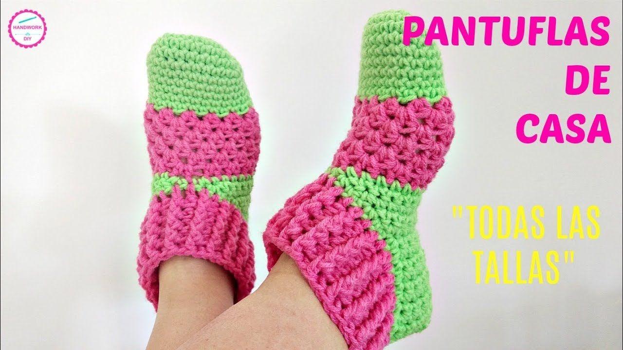 Pantuflas Crochet Para Adulto En Todas Las Tallas Pantuflas De Ganchillo Calcetines De Ganchillo Zapatos De Ganchillo