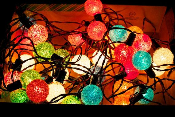Vintage Christmas Lights / Snowball Frosted Ice, we had