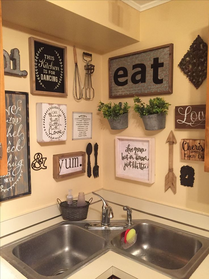 Kitchen Wall Decor Ideas Diy And Unique Wall Decoration Farmhousestyle Budget Diy Country Kitchen Wall Decor Kitchen Gallery Wall Kitchen Decor Wall Art