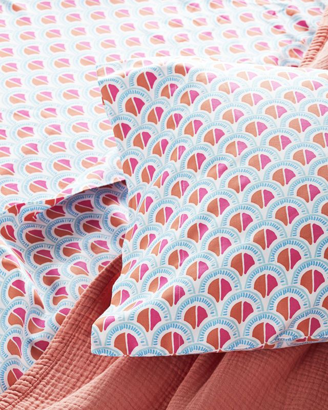 Scale Sheet Set Coral Serena Lily Site Bed Bath Stunning Patterned Sheets