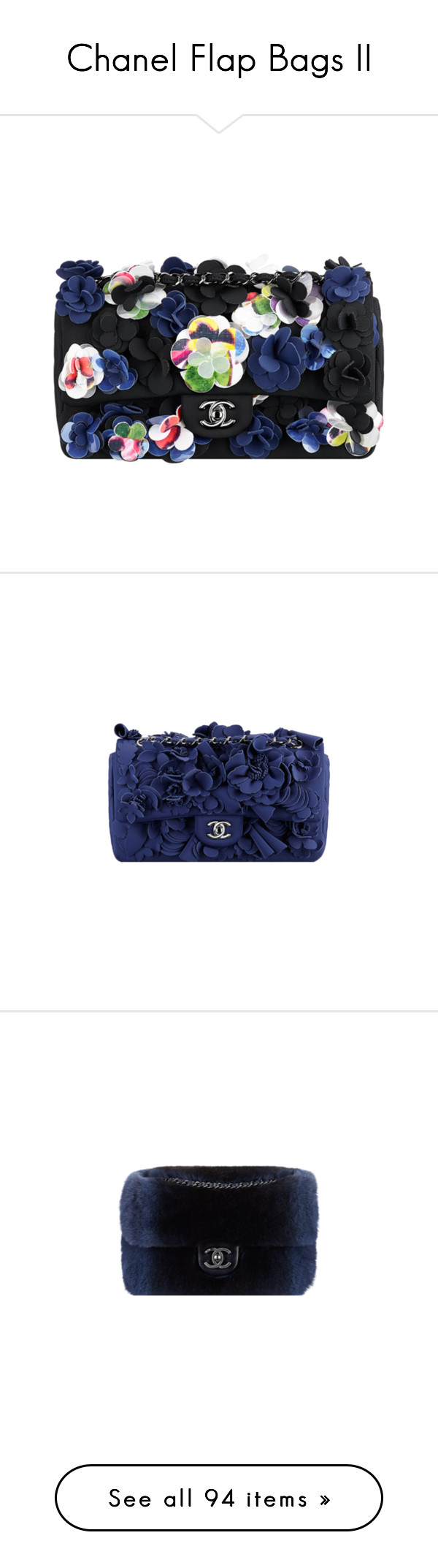 """""""Chanel Flap Bags II"""" by sakuragirl ❤ liked on Polyvore"""