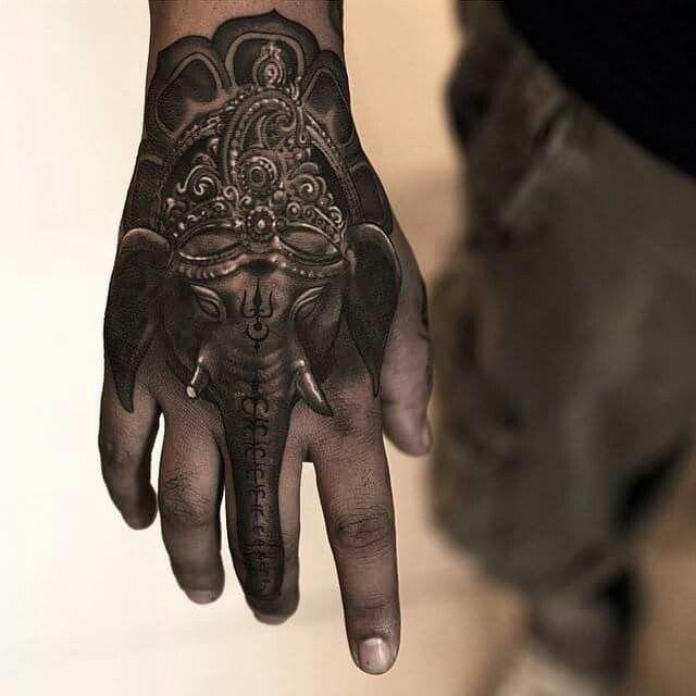 1b7a55ea2 Ganesha hand tattoo   Tattoos/Body art   Hand tattoos, Elephant ...