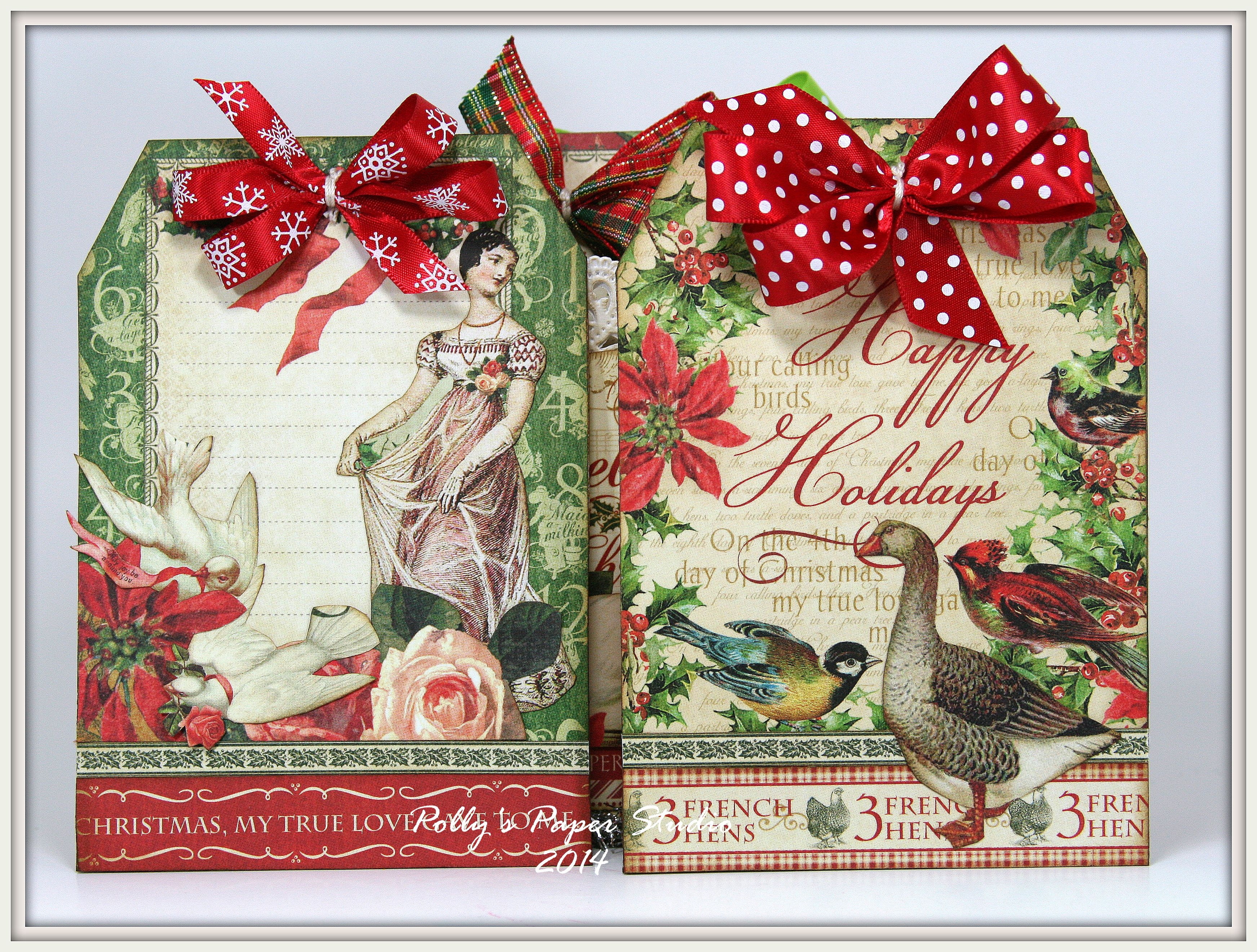 Graphic 45 Twelve Days of Christmas Tag Book in a Box
