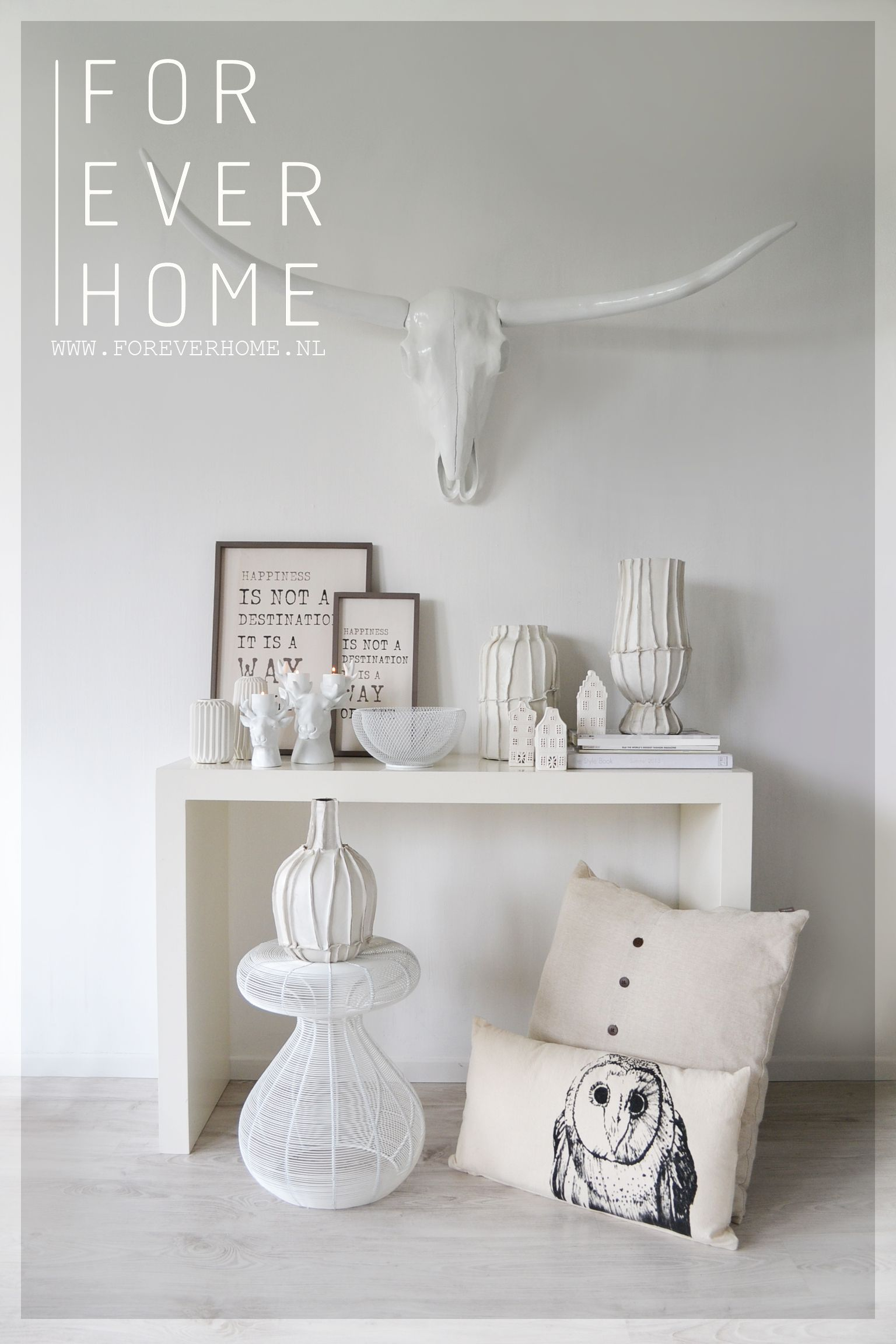 all white interior design trend - www.foreverhome.nl wit interieur ...