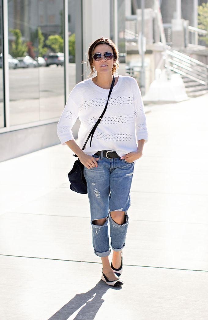 7ab7afb36b The Weekend Look- on  HelloFashionBlog  Christine Andrew wearing Yosi Samra  two tone YS flats