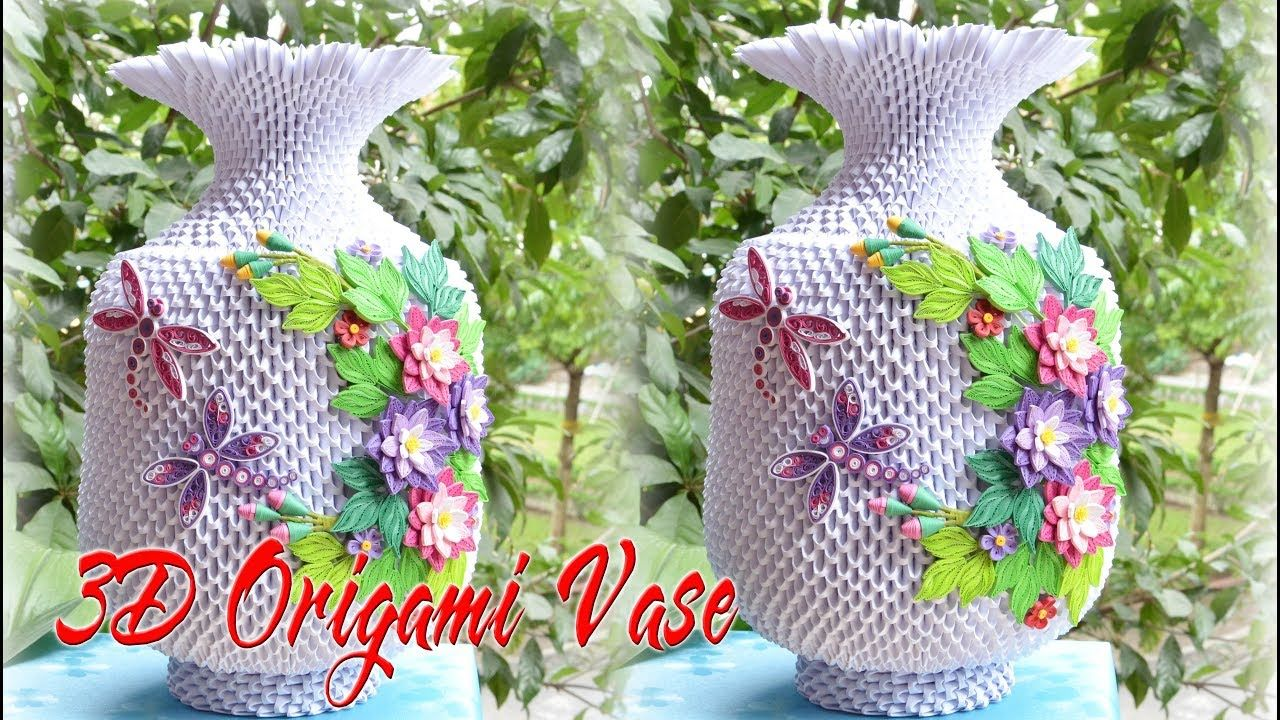 3d origami flower vase v3 tutorial cmo hacer flor de origami 3d 3d origami flower vase v3 tutorial cmo hacer flor de origami 3d florero mightylinksfo