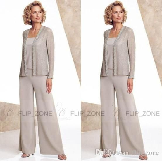 Cheap Silver Mother Of The Bride Groom Pants Suits Cheap Plus Size ...