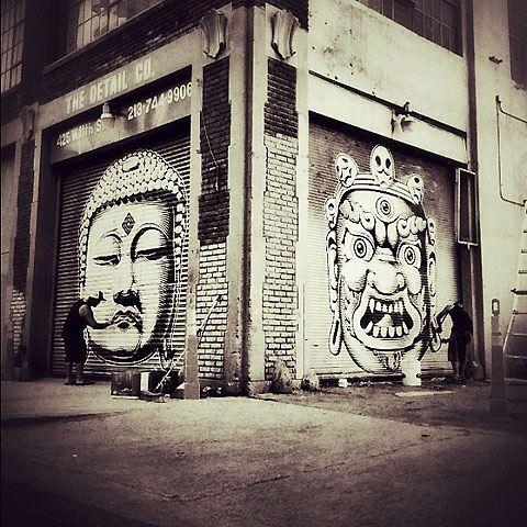 Eastern Philosophy Street Art By Cryptik