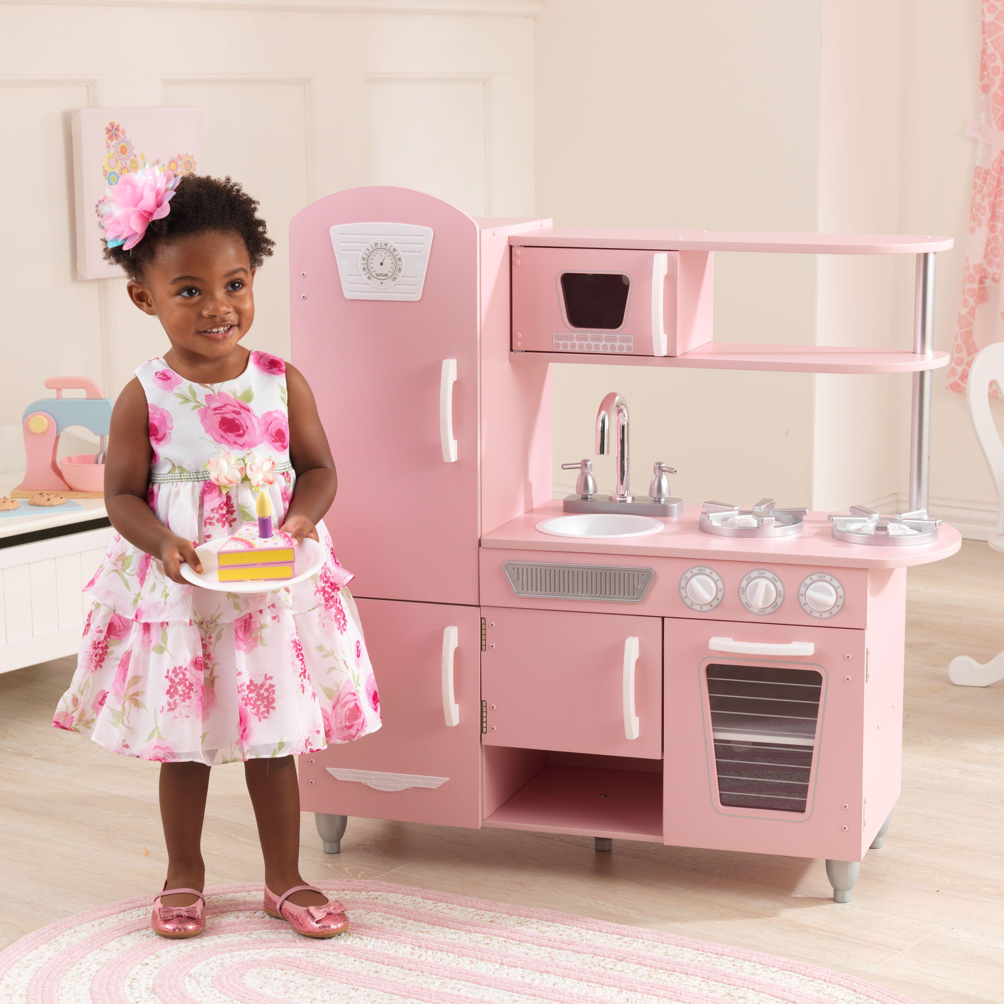 Vintage Play Kitchen Pink Kidkraft Vintage Kitchen Pretend