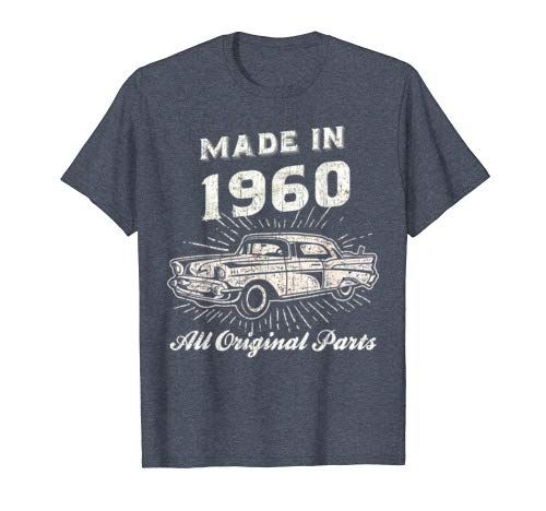Vintage Made In 1960 60th Birthday 60 Year Old Classic Car T Shirt