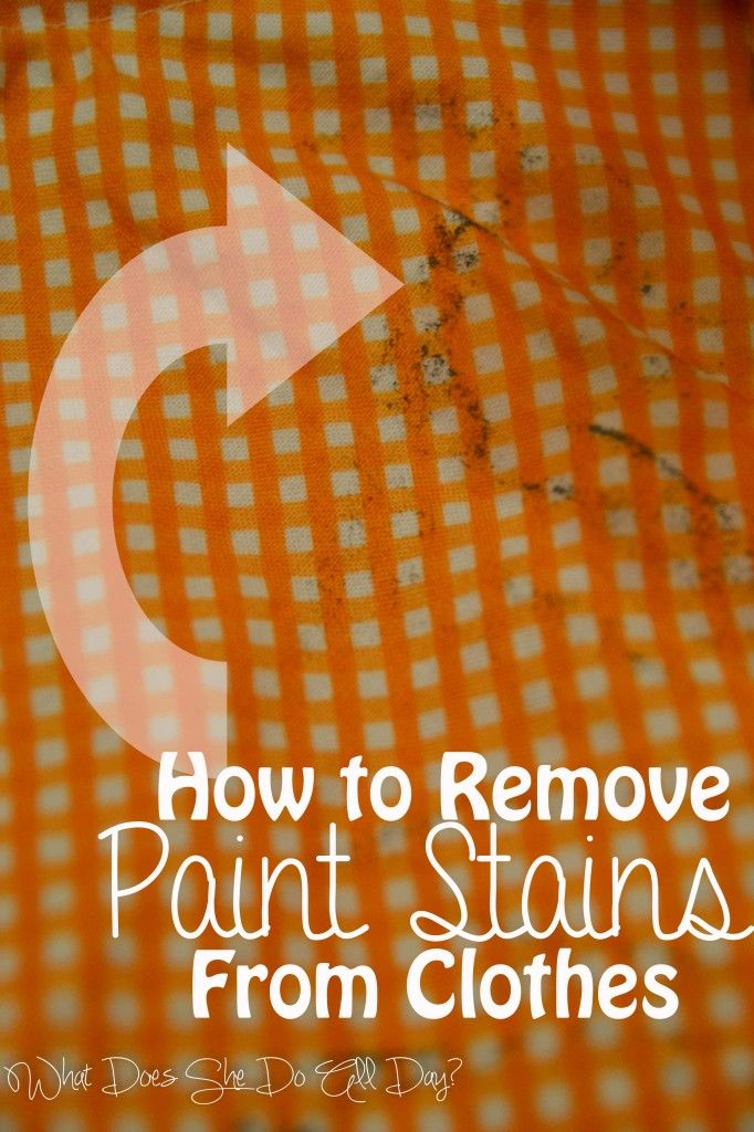 How To Remove Paint Stains From Clothes Home And Living Easy