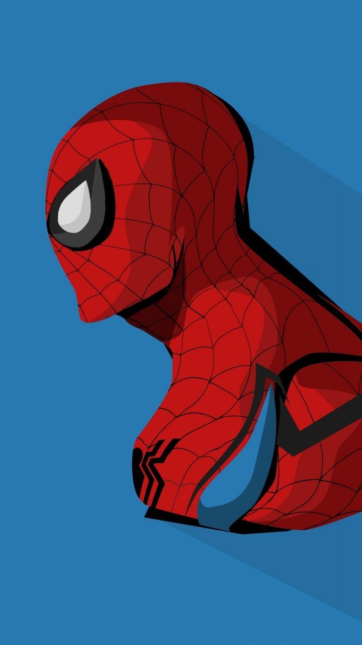 Spider man minimal artwork 720x1280 wallpaper spider - Marvel retro wallpaper ...